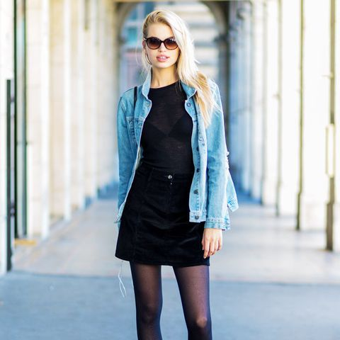 Rules for wearing tights: Almost-Opaque Tights and Trainers Are a Thumbs Up