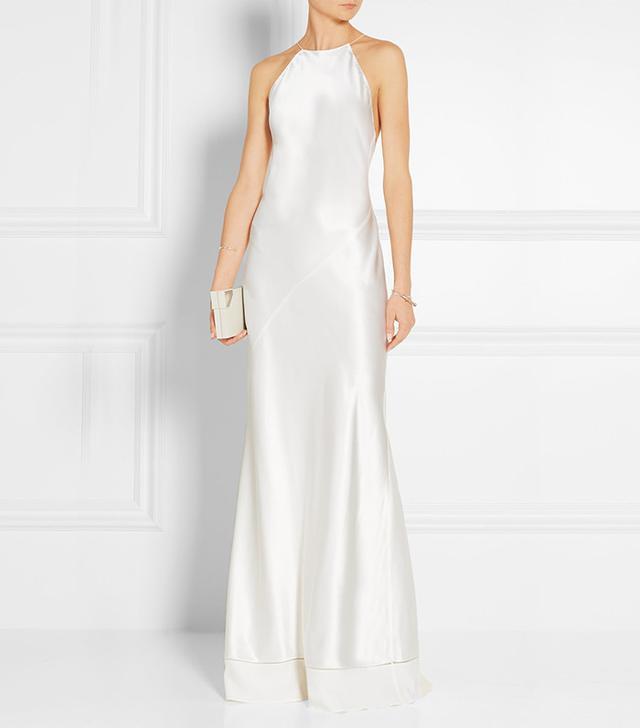 Calvin Klein Collection Silk-Satin Gown