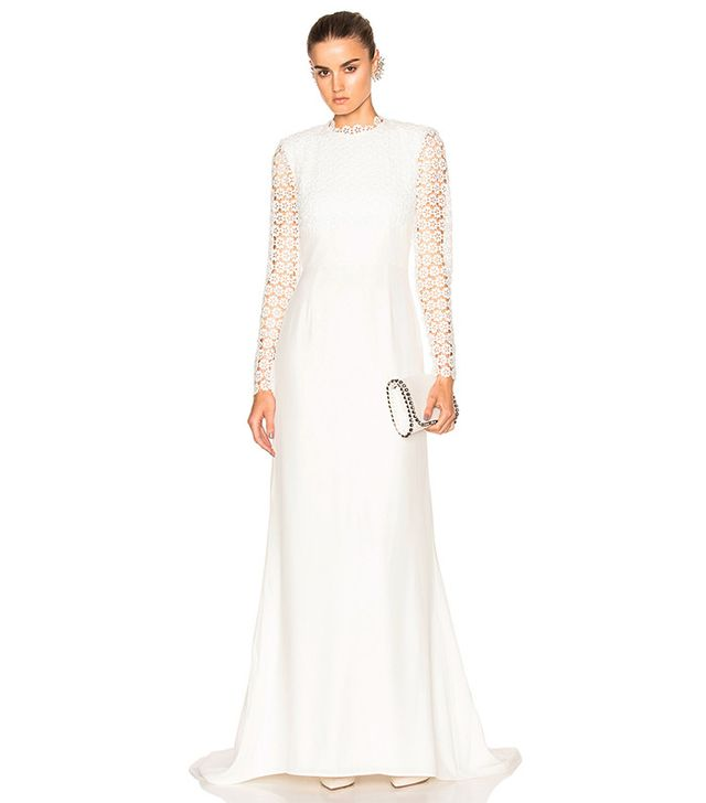 Self-Portrait Eva Backless Silk Wedding Dress