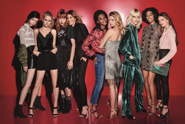 From Left:Jing Wen, Lottie Moss, Kiki Willems, Cami Morrone, Londone Meyers, Stella Maxwell, Marjan Johnman, Damaris Goddrie, and Catie Greene