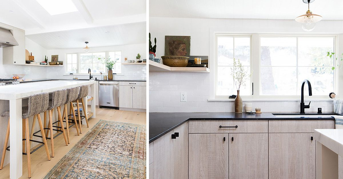 Before And After Inside Amber Interiors Boho Chic Kitchen Renovation