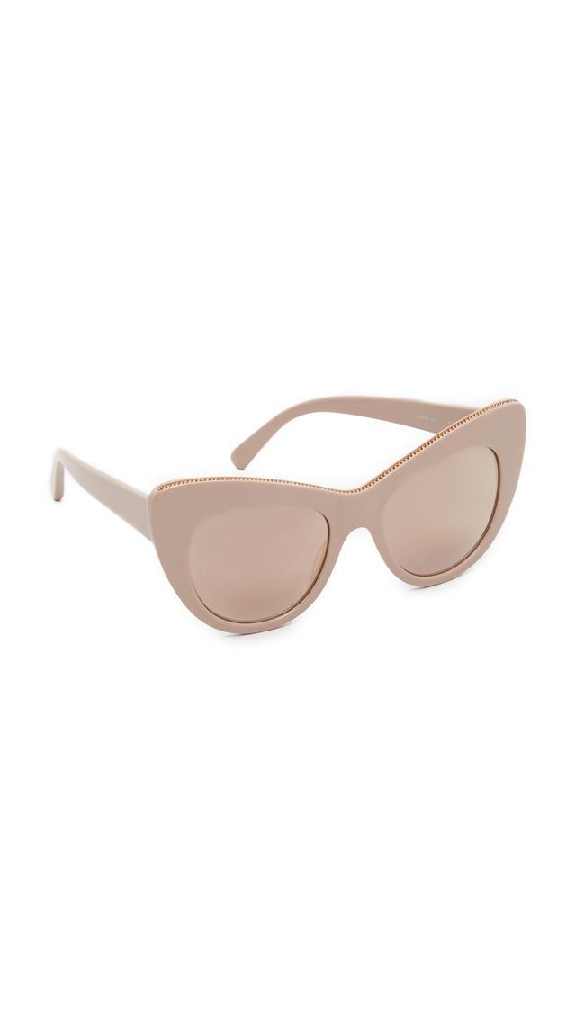 Stella McCartney Chain Mirrored Cat Eye Sunglasses