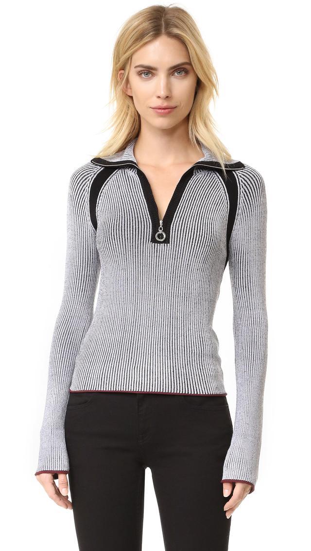 Edun Rib Collared Sweater