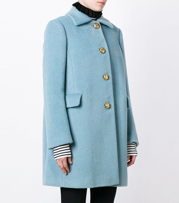 Red Valentino Single Breasted Coat
