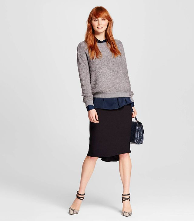 Who What Wear Peplum Back Pencil Skirt