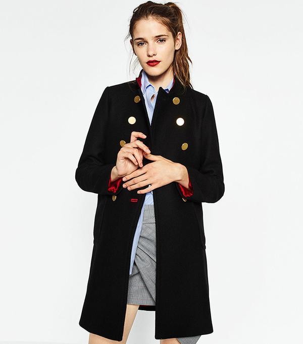 Zara Double-Breasted Coat