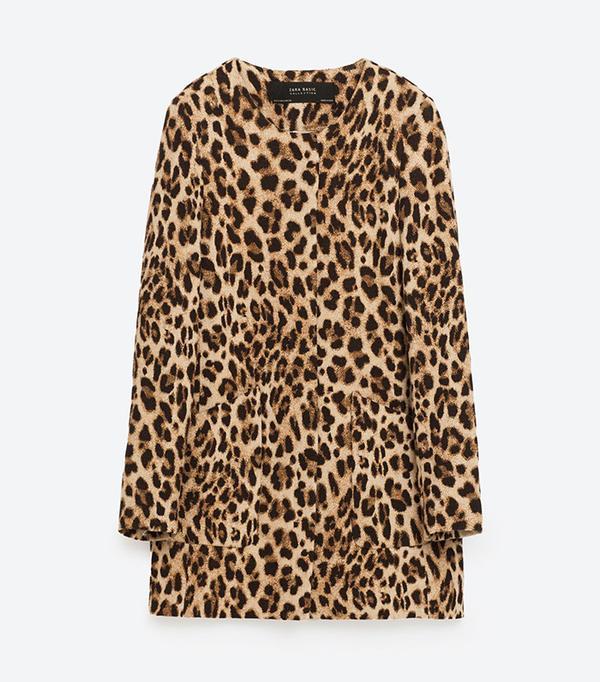 Zara Animal Print Frock Coat