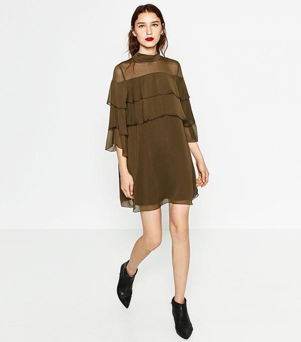Zara Short Frilled Dress