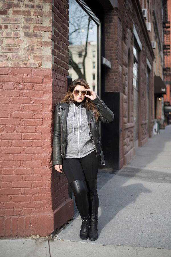 This ensemble is perfect if you live somewhere like Los Angeles and need a look that's a bit warmer but not too much. Go for the athleisure look and pair leggings with boots, and add a hooded...