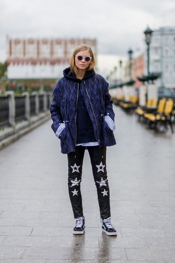 For an off-duty winter vibe, go for a puffer, sweatshirt, statement jeans, and sneakers. The cool thing about this look is that it can work if you're in a cold climate (with the jacket) and can...