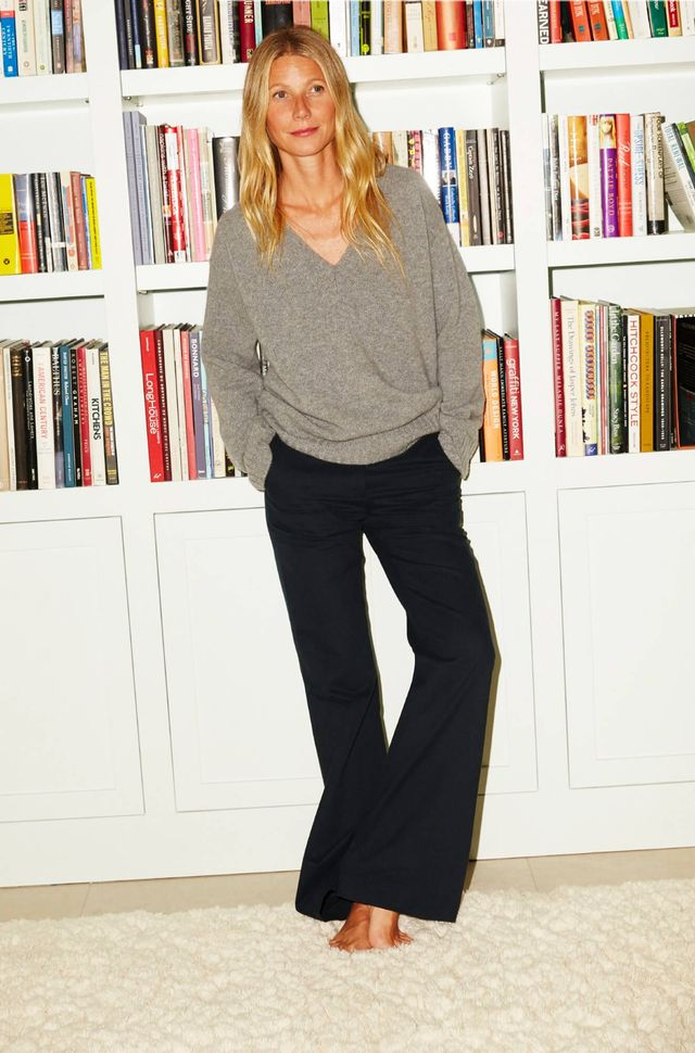 Goop Thea Oversized Sweater ($395) and Julie Wide-Leg Pants ($350)