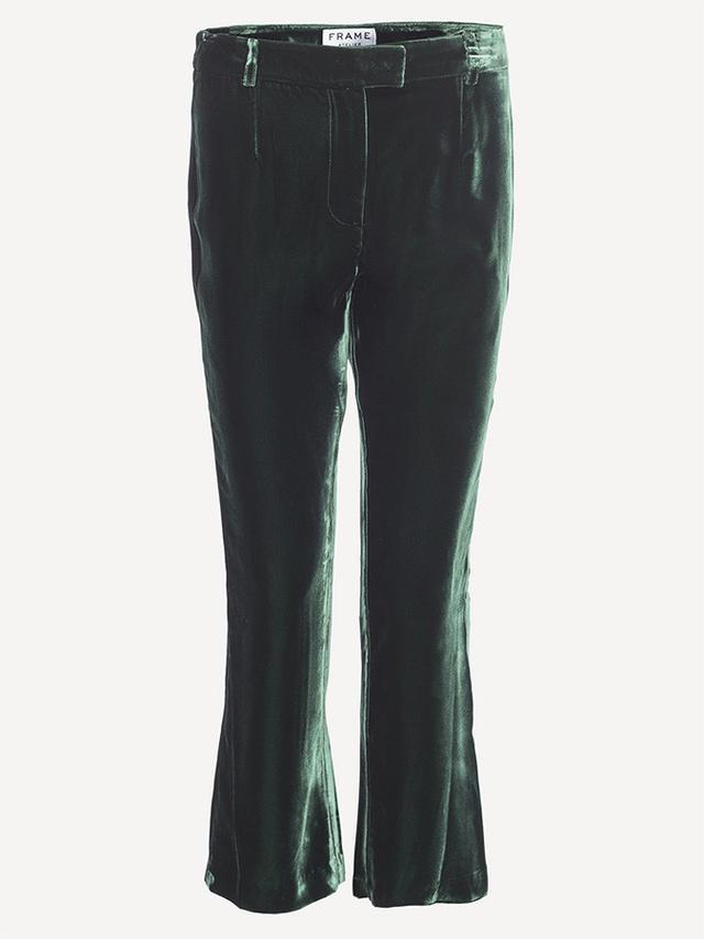 Frame Velvet Pants in Spruce