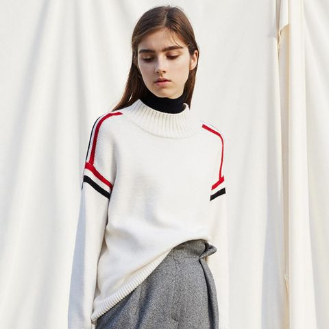Contrast Trim Sweater
