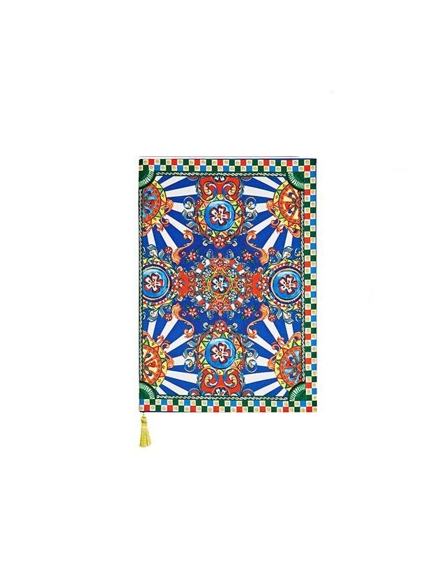 Dolce & Gabbana Carretto Printed Twill Notebook