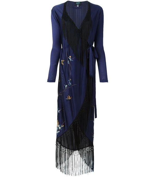 Jean Paul Gaultier Vintage Embroidered Fringed Kimono