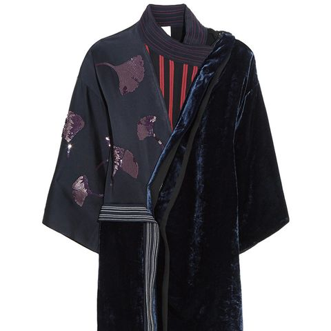 Sequined Chiffon and Velvet Dress