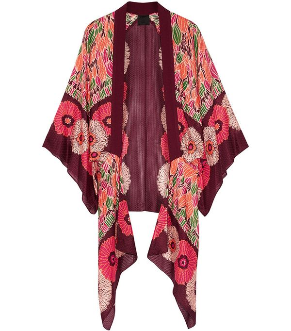 Anna Sui Poppy Buds Printed Cotton and Silk-Blend Kimono