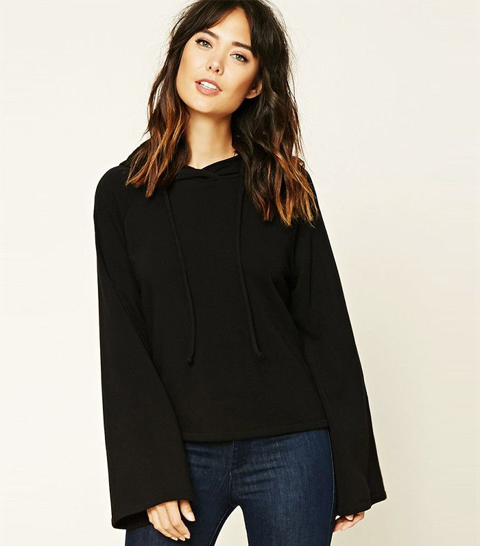 Forever 21 Contemporary Hooded Sweater