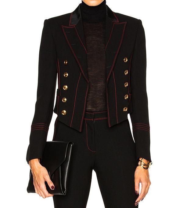 Burberry Prorsum Luggage Stitch Military Jacket