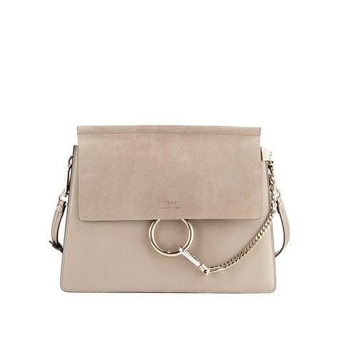 Faye Medium Flap Shoulder Bag Motty Gray