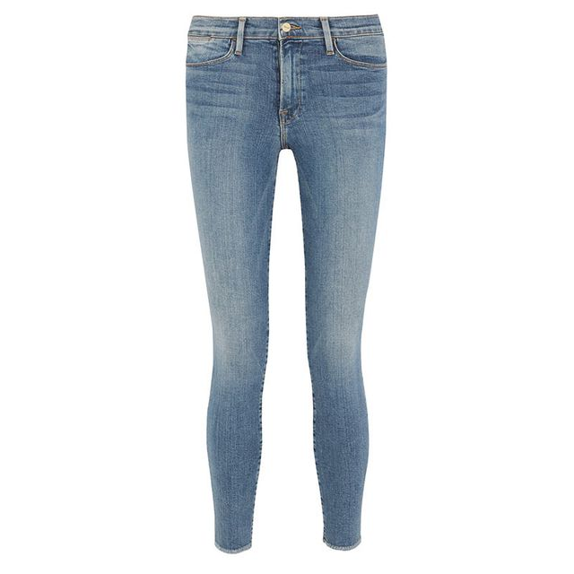 Frame Mid-Rise Blue Jeans