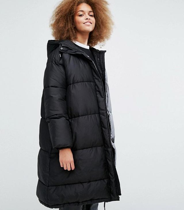 Monki Exclusive Padded Hooded Jacket