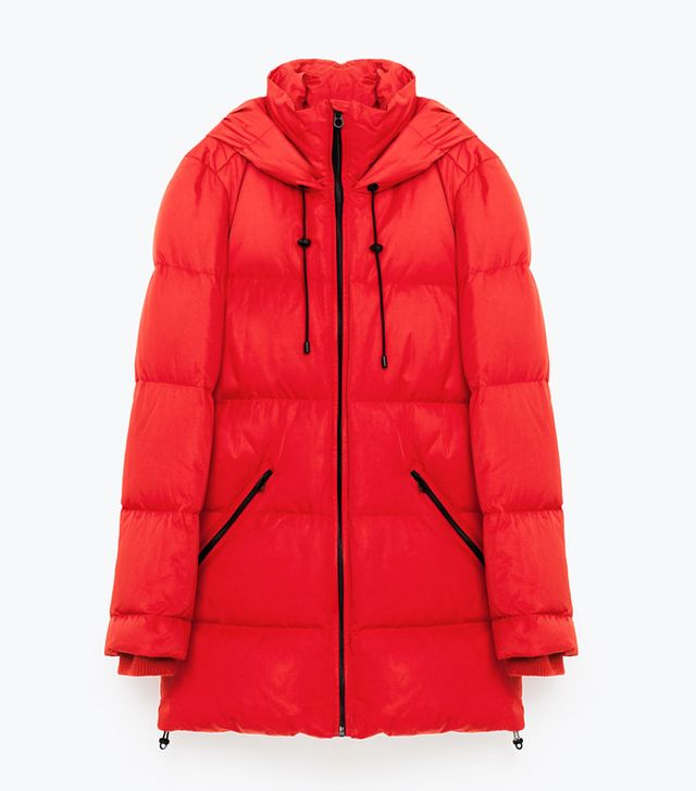 Zara Oversized Quilted Feather Down Coat