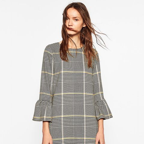 Checked Dress With Frill