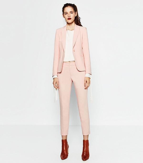 Zara Double Crepe Blazer