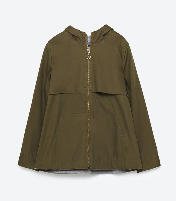 Zara Short Hooded Jacket