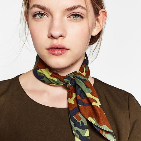 Camouflage Bandana-Style Scarf