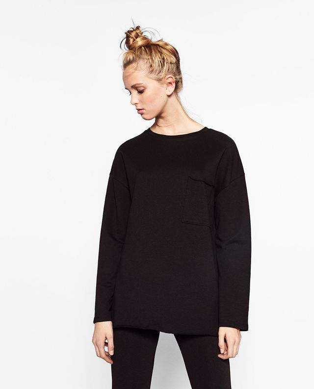 Zara Sweatshirt with Front Pocket