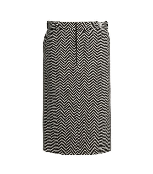 Raey Herringbone Pencil Skirt