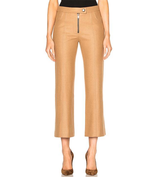 Frankie Cropped Wool Flare Pants