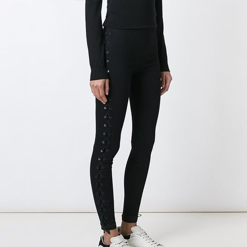 Side Lace-Up Trousers
