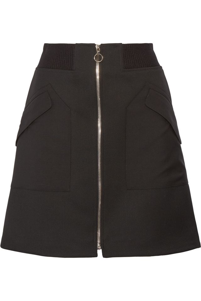 Tim Coppens Wool-Twill Mini Skirt
