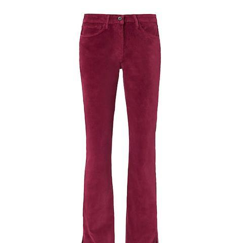 Split Hem Velvet Bell Pants