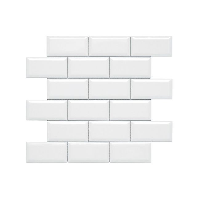 ABL Kiwi Gloss White Bevelled Subway Tile