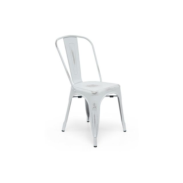 Life Interiors Replica Tolix Chair - Antique White