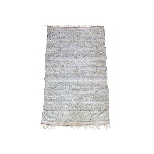 Paddo to Palmy Ivory Sparkle Moroccan Wedding Blanket