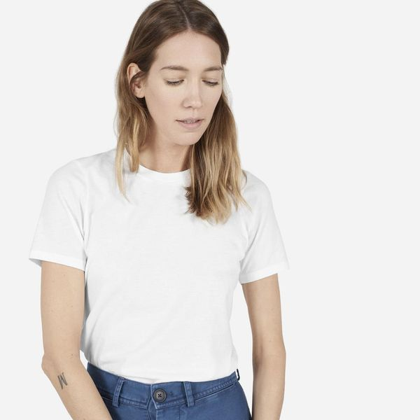 Women's Cotton Crew T-Shirt by Everlane in White, Size S