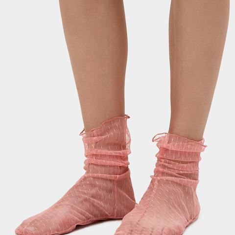 Hynde Tulle Socks in Pink