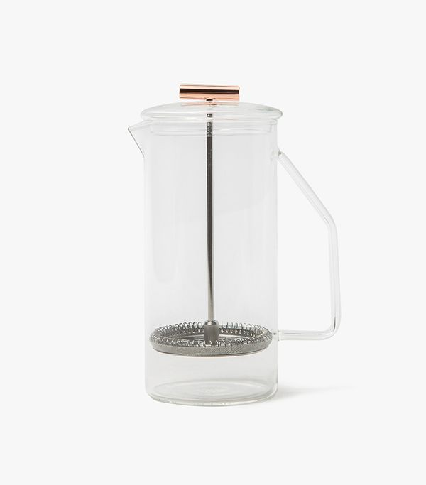 850mL Glass French Press in Clear