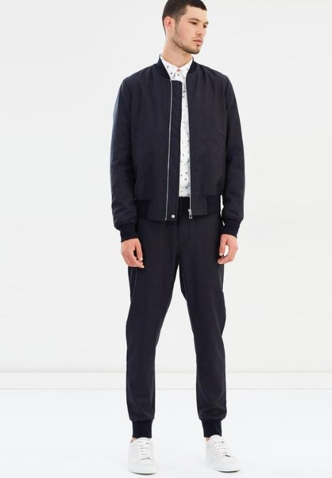 Paul Smith Wool Check Bomber