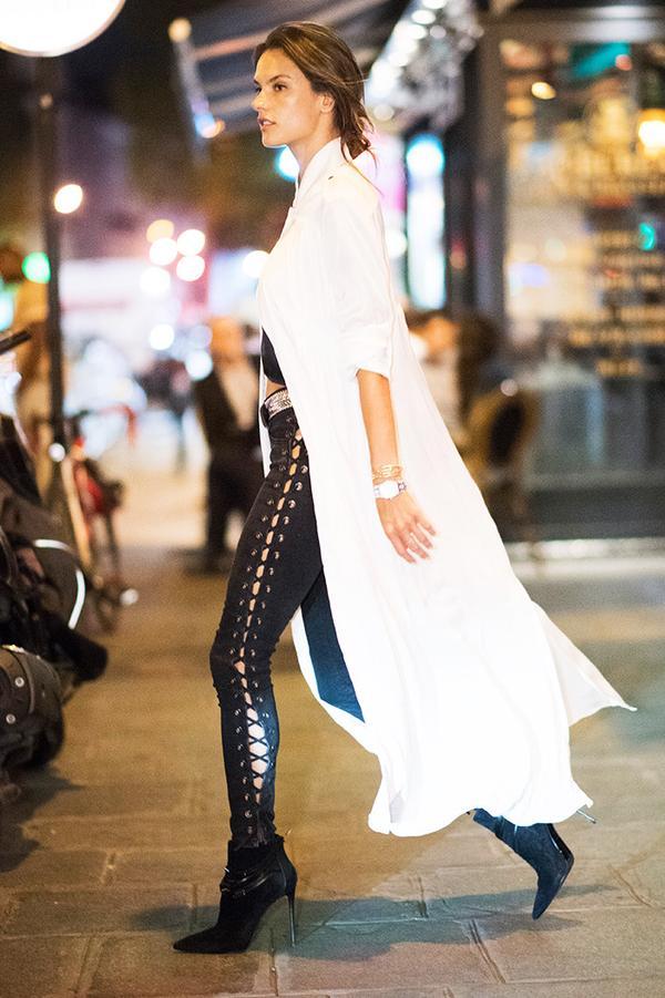 On Alessandra Ambrosio: Ellery dress.