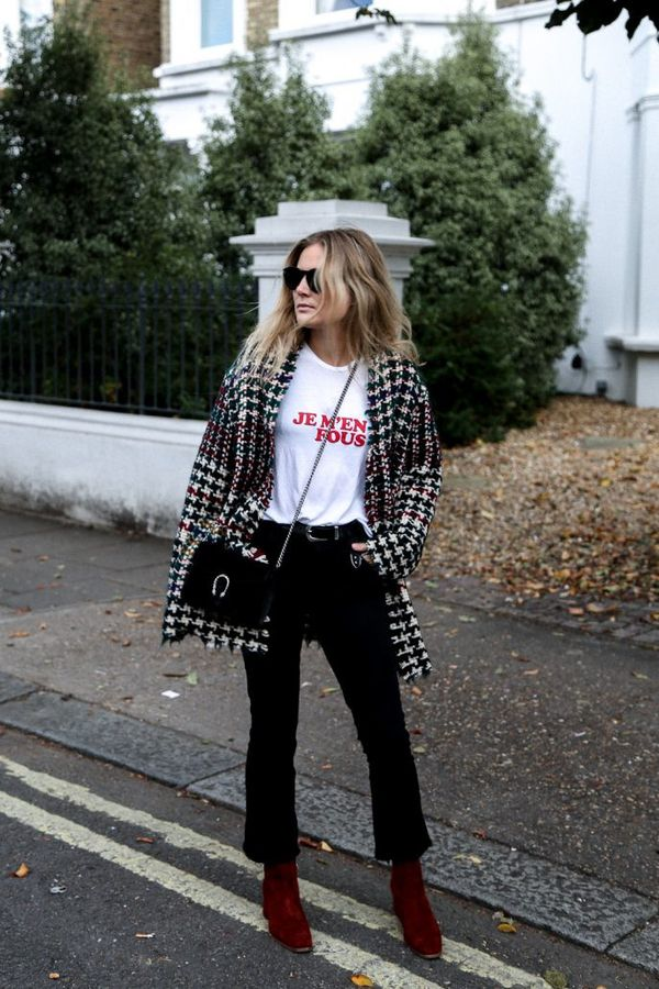 Style Notes: Houndstooth and tweed are two of winter dressing's best ingredients, so it's no surprise that Lucy Williams' Isabel Marant coat is getting the thumbs-up from us. The...