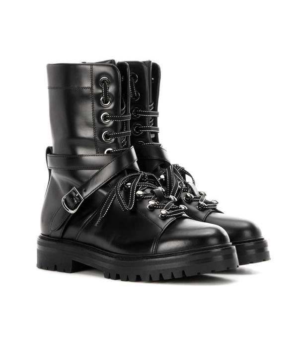 Valentino Combat Leather Boots