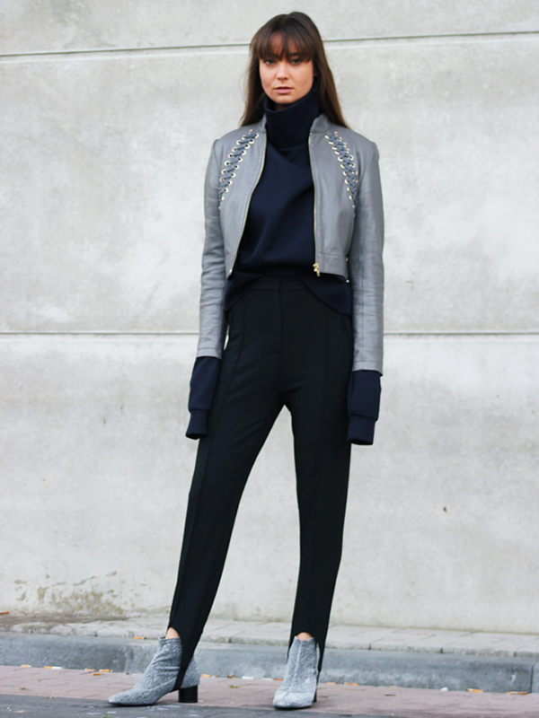 Style Notes: A rollneck that's like a pair of gloves? Yes please (Annemiek Kessels's is from COS). And those stirrup pants - just the ticket for blocking out breezes.