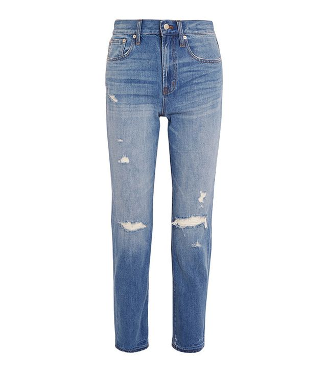 Madewell The Perfect Vintage Distressed High-Rise Straight-Leg Jeans