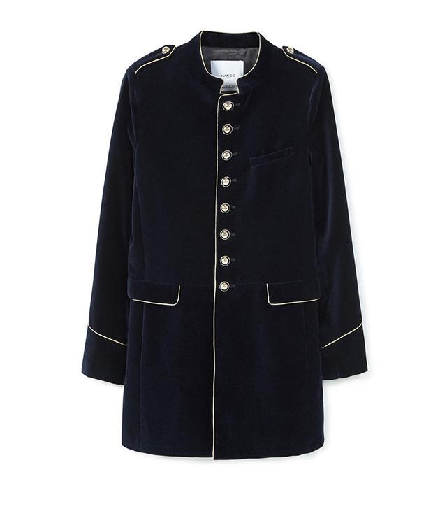 Mango Military Style Coat